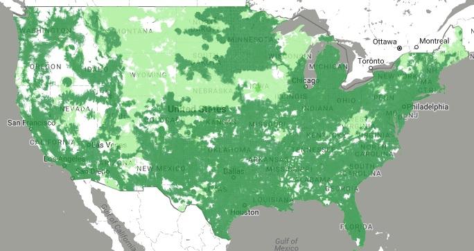Republic Wireless coverage map