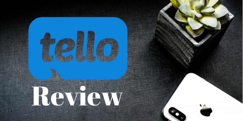 Tello mobile review header
