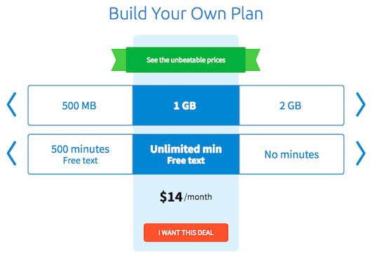Wireless Plan Pricing Tool